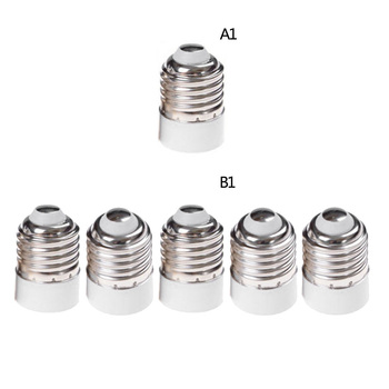 1/5Pcs E14 to E 27 Base Socket Mutual Conversion Lamp Holders Light Converter Adapter Lampholders For LED Corn Bulb image