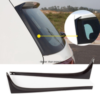 For V W 2pcs Black ABS Plastic Car Rear Window Side Spoiler Wing Support G OLF 7 MK7 GTD R 2014 2019