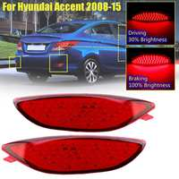 Car Led Rear Reflector Brake Light Lamp For Hyundai Accent Sedan Verna Solaris 2008 2015 78LED Bumper Tail Light Drl Fog Lamp