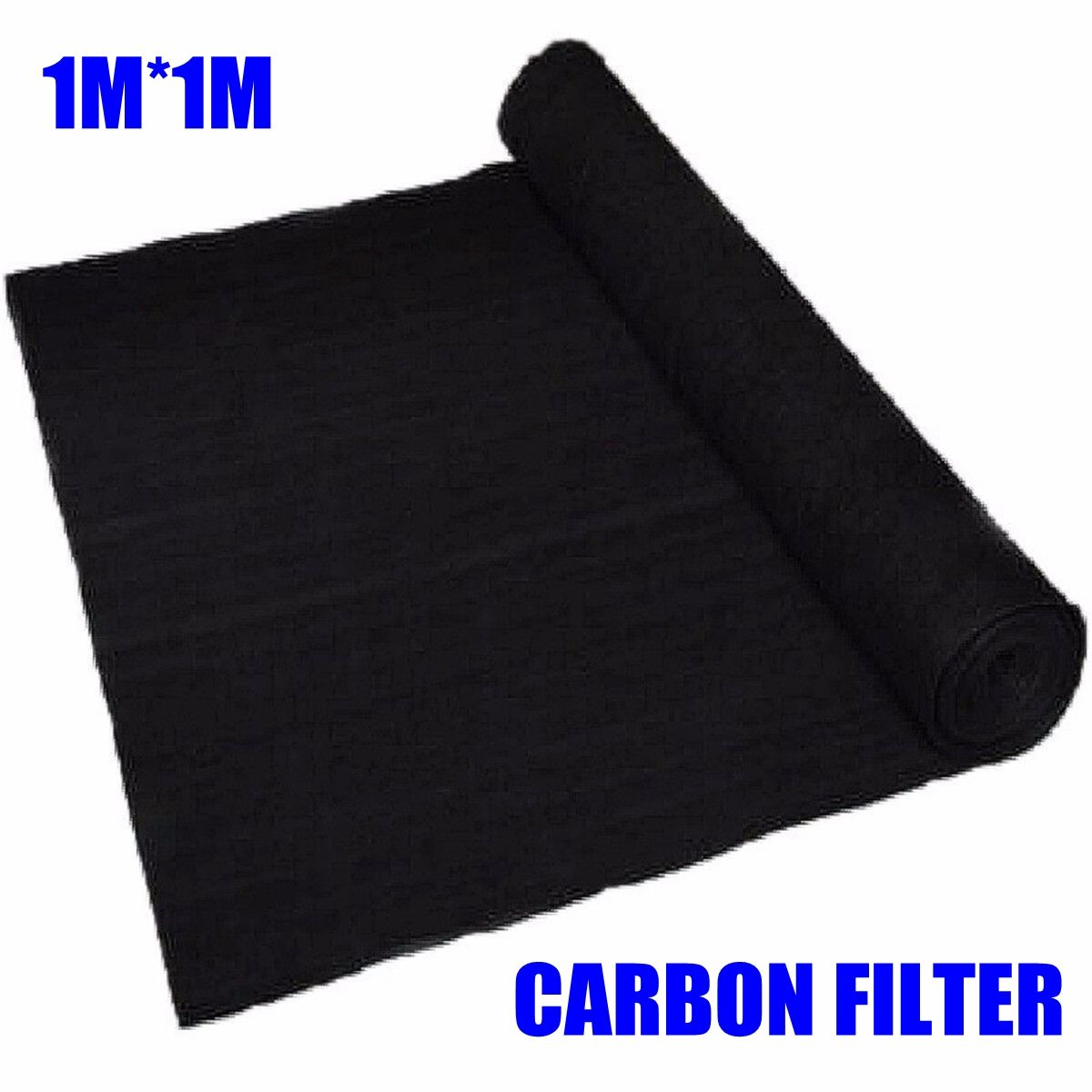 1m*1m*3mm Home Fabric Air Conditioner Activated Carbon Purifier Pre Filter Fabric Sheet Pad