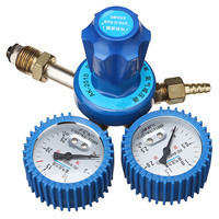 Shock Oxygen Pressure Regulator Dual Gauge Single Stage Stainless Steel Argon Regulator Oxygen Reducer 0 2.5MPa G5/8