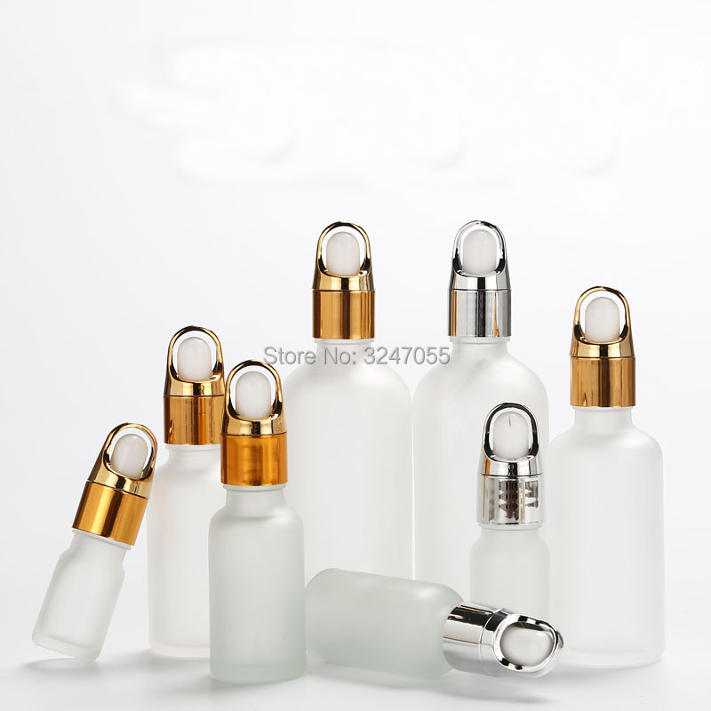 5ml10ml15ml20ml30ml50ml100ml Empty Glass Cosmetic Essential Oil Frosted Transparent Bottle with Basket Cap Perfume Dropper Vial