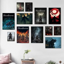 Bloodborne Dark Hunter Game Poster And Print Canvas Art Painting Wall Pictures For Living Room Decoration Home Decor No Frame