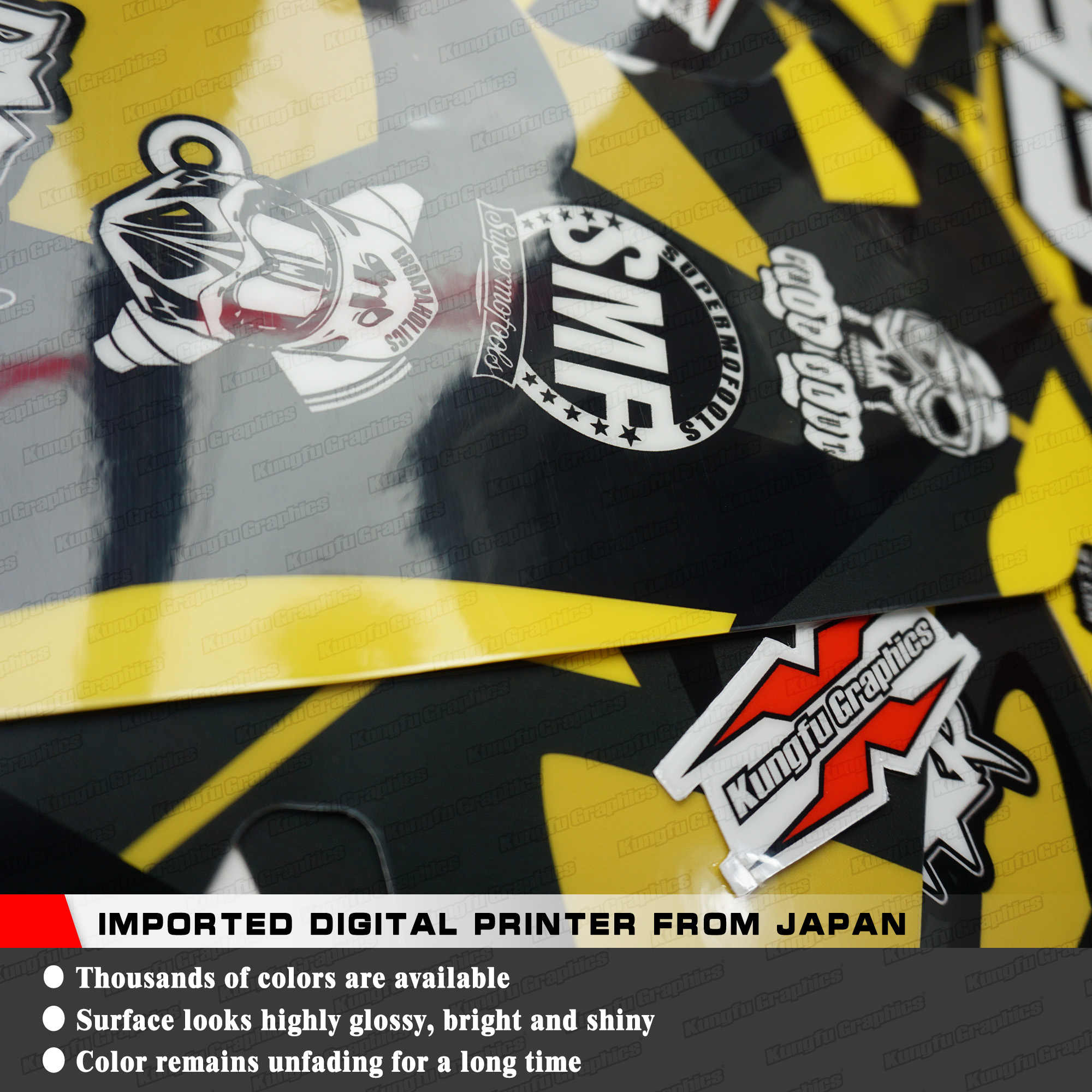 KUNGFU GRAPHICS Dirt Bike Stickers Design Decals Kit for Husqvarna TE FE TC  FC TX FX 125 250 300 350 450 501 2016 2017 2018 2019