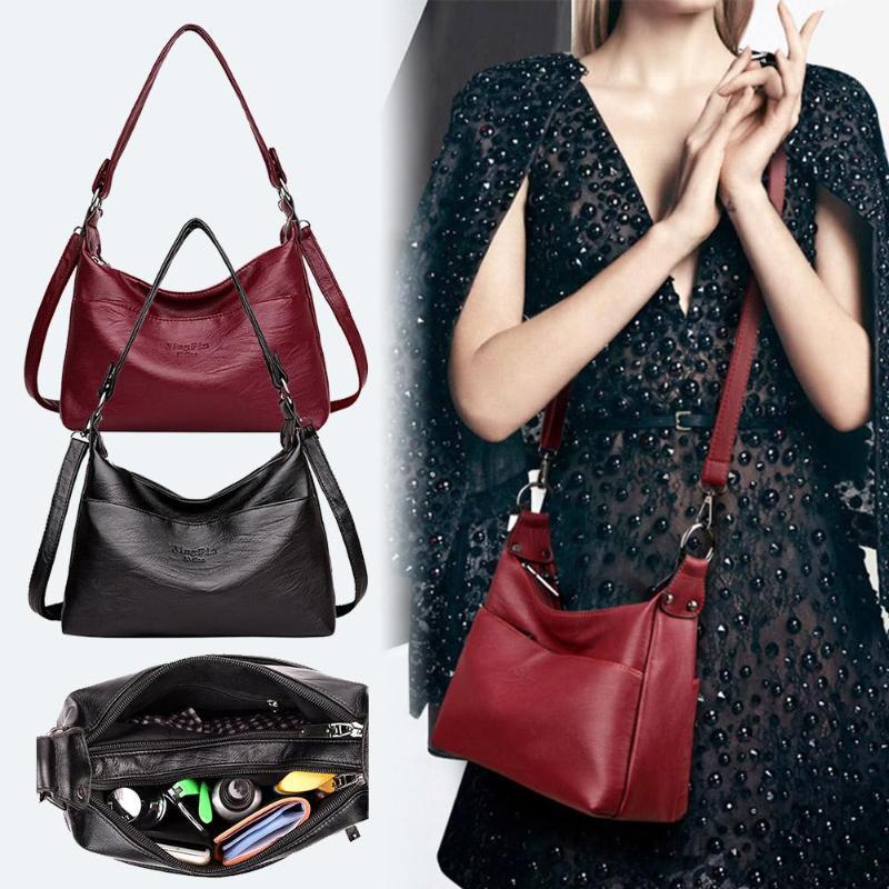 Designer Women Solid Handbag Female PU Leather Bags Handbags Ladies Portable Shoulder Bag Office Ladies Hobos Bag Totes 3