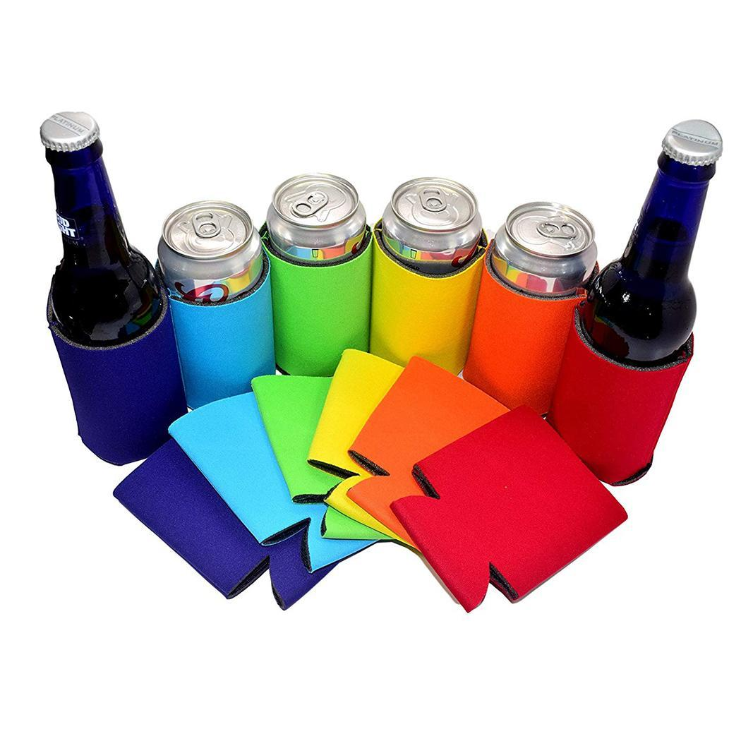 5PC beer can cooler sleeve wedding party decoration solid