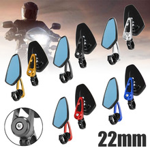 2pcs Motorcycle Aluminum Rearview Mirror 7/8 22mm Adjustability Bar End Side Mirrors Moto Accessories