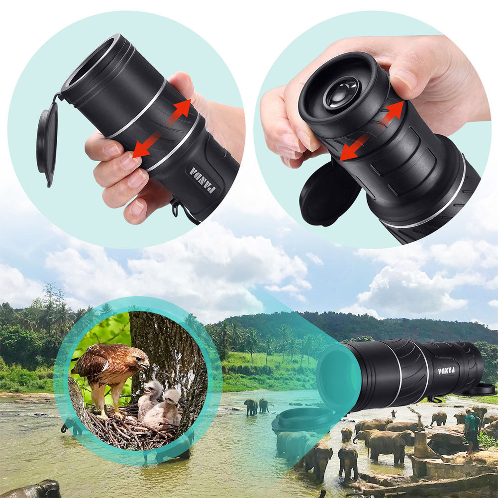 Image 2 - New 40x60 Mini Portable Night Vision Hunting Monocular Powerful Camping Telescope-in Monocular/Binoculars from Sports & Entertainment