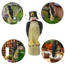 Голова двигается по ветру поддельная Сова охотничья стрельба приманка Отпугиватель декора сада вредители птицы Scarer животное пугало