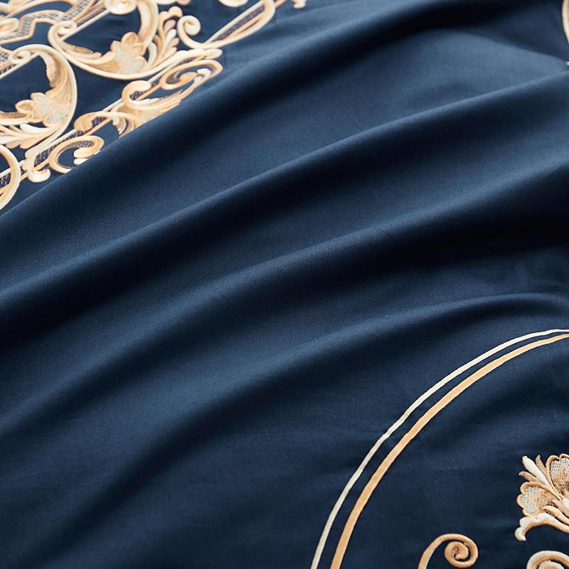 60 S coton égyptien hommage soie luxe Royal ensemble de literie 4 pièces roi reine taille noir drap de lit ensemble housse de couette taies d'oreiller 22 - 5