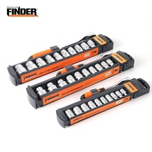 FINDER 11PCS Sleeve Ratchet Torque Hexagon Socket Wrench Set Chrome Vanadium Steel Spanner Garage Hand Tool Auto Repair Tools