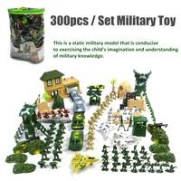 300Pcs/Lot Plastic Military Toys Set Mini Soldier Model Army Men Figures Model Building Figurines Children Kids Toy Kits