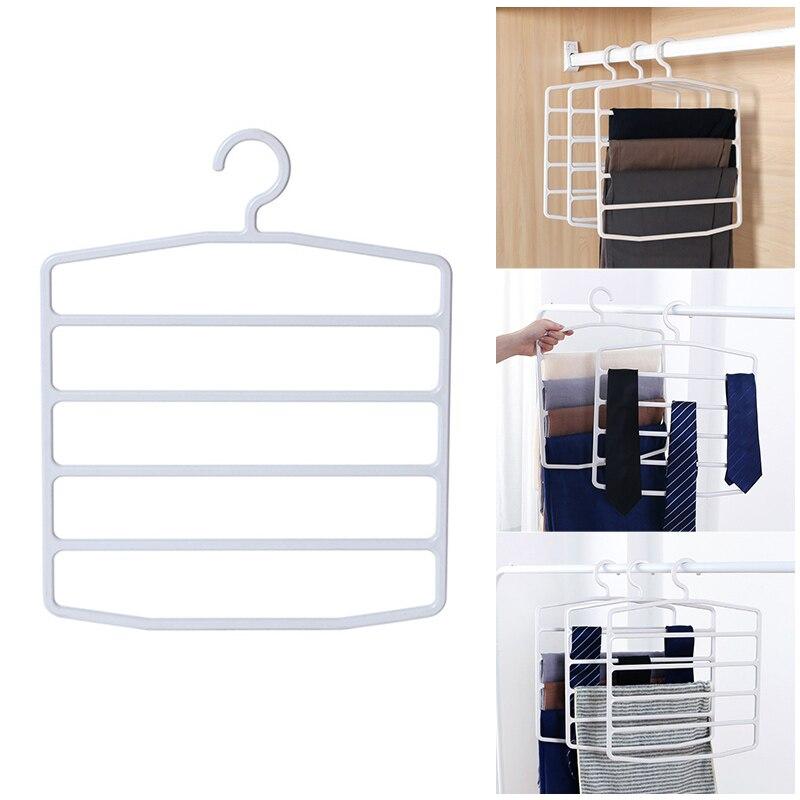 1 Pc Plastic Broek Hanger Multi-layer Ruimtebesparend Kleding Stand Voor Closet Hot Koop Zonder Terugkeer