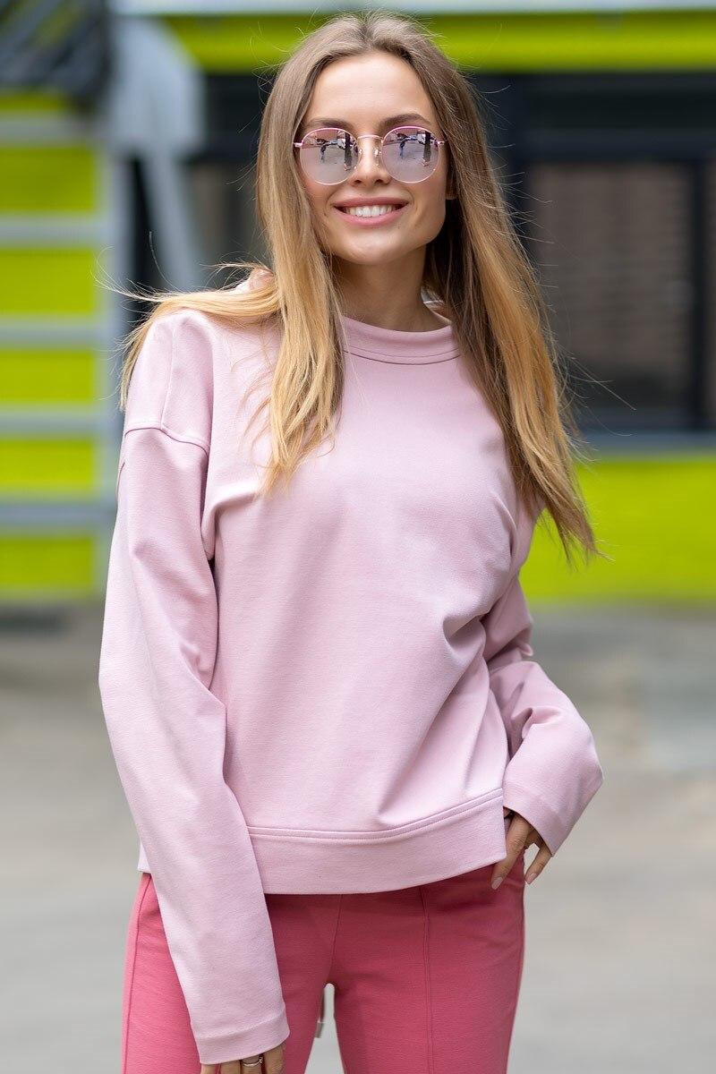 Sweatshirt 4702100-62 textured shearling sweatshirt