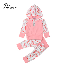 Toddler Kids  Baby Girls Koi Fish long Sleeve Hooded Tops Coat Pants Outfits Clothes 0-4T autumn newborn toddler baby kids girls clothes long sleeve floral hooded tops leggings pants outfits cotton two piece set