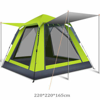 3-4 Person Ultralight Quick Automatic Opening Camping Tent Waterproof Outdoor Trekking Hiking Picnic Portable Family Beach Tent