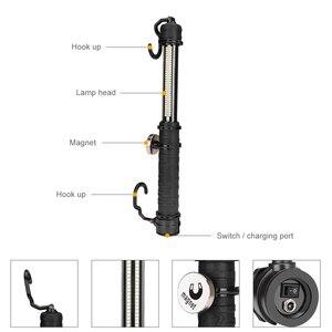 Image 3 - 60 SMD USB مصباح العمل القابل لإعادة الشحن الذيل الطلب التبديل مصباح ليد جيب المغناطيسي مصباح فحص مصباح يدوي ل سيارة إصلاح ضوء