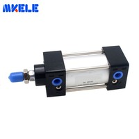 Makerele Double Acting Pneumatic Cylinder Air Cylinder 40mm Bore 25mm Stroke Aluminium Alloy SC40 25 Free Shipping