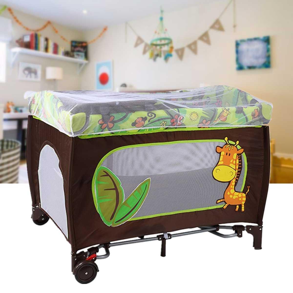 104x78x76 Cm Multifunktionale Tragbare Falten Baby Krippen Spiel Bett Reise Sleeper Bett Laufstall Neugeborenen Stubenwagen Möbel Mit Net Preisnachlass