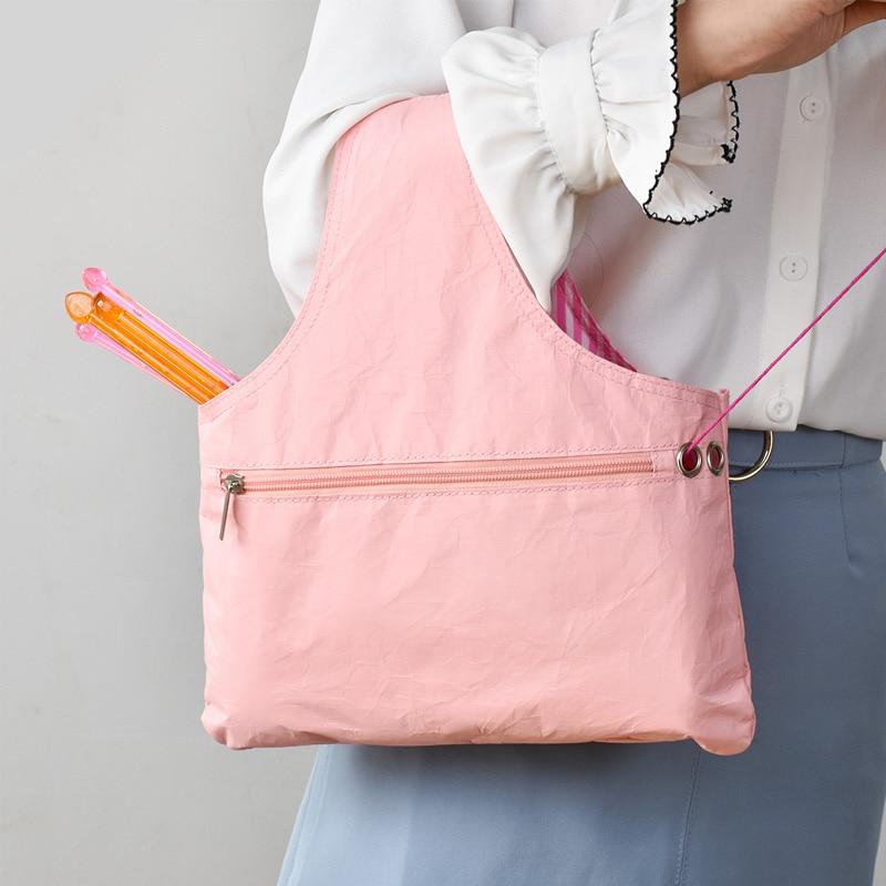 Yarn Sewing Tool Small Projects Storage Bags Yarn Storage Organizer DIY Apparel Needlework Storage Knitting Tote Bag