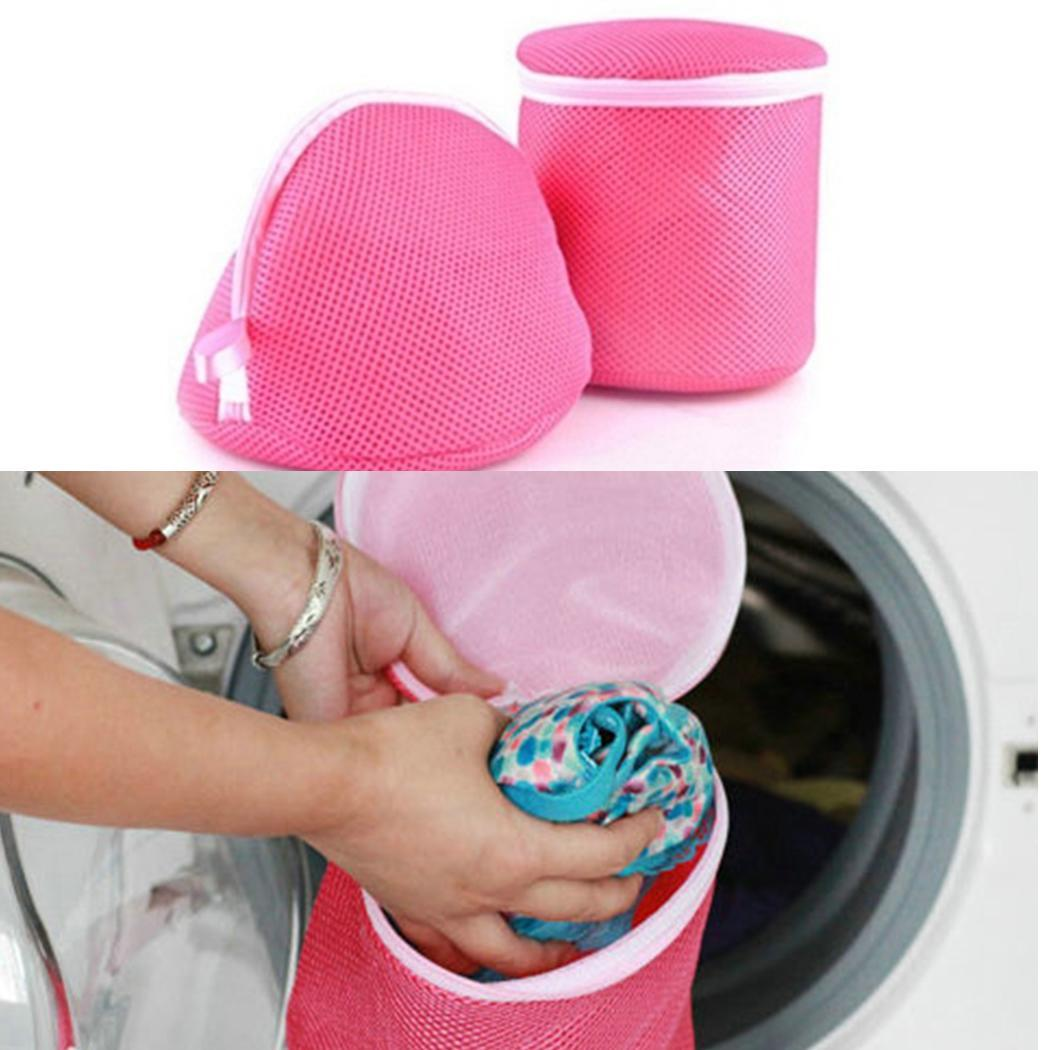 Useful Bra Underwear Laundry Bag Basket Mesh Bag Household Cleaning  Cylindrical Laundry Wash Care Home Travel Daily Accessories