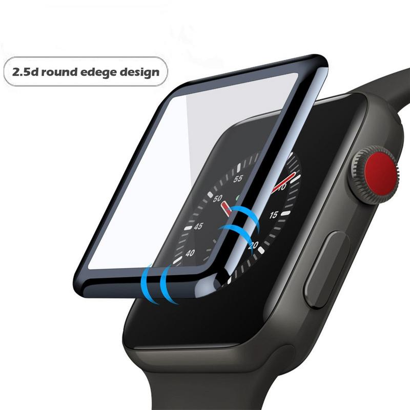 Image 3 - Soft Toughened Glass Film Durable Protector Anti fingerprint HD Touch Screen Patch Type Anterior Membrane For Apple Watch Series-in Screen Protectors from Consumer Electronics