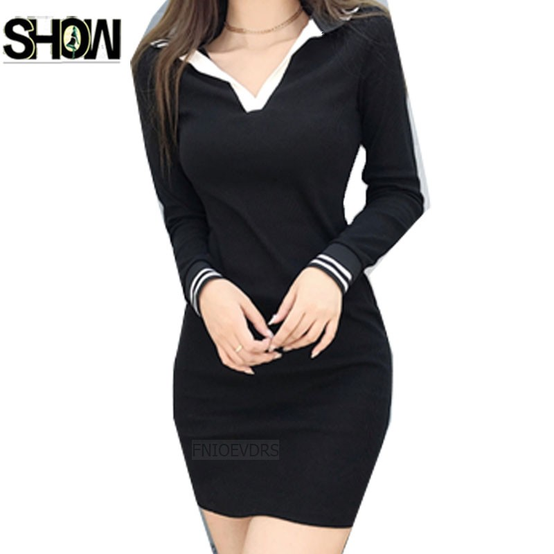 Little Black Dresses Hot Sales Women Korean Style Slim Preppy Cute