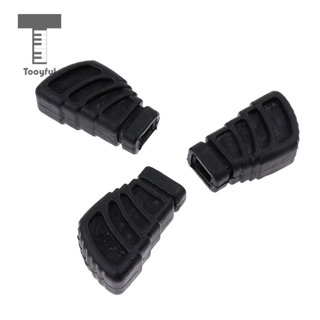 3pcs Replacement Rubber Feet For Single Braced Drum Hardware Cymbal Stands