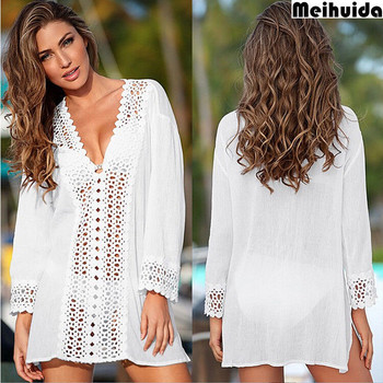 Fashion Casual Loose Solid Women Beach Bikini Cover up Top Swim Short Wrap Sarong Beachwear Sun Dress Summer Clothes 1