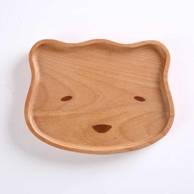 Природа деревянная детская тарелка милая детская Тарелка деревянная посуда