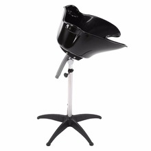 Portable Salon Hair Basin Adjustable Height Hair Spa Neck Re