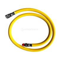 36 Inch Low Pressure Braided Yellow Scuba Regulator Rubber Hose 2nd Stage with Quick Release Connector