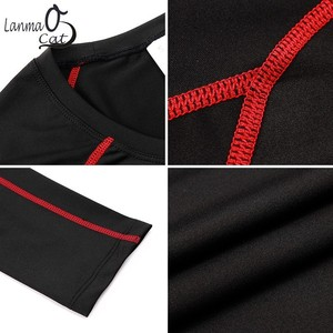 Image 4 - Lanmaocat Sportkleding Voor Mannen Fitness Jersey Shirt Custom Logo Print Mannen Bodybuilding Compressie Kleding T shirt Gratis Verzending