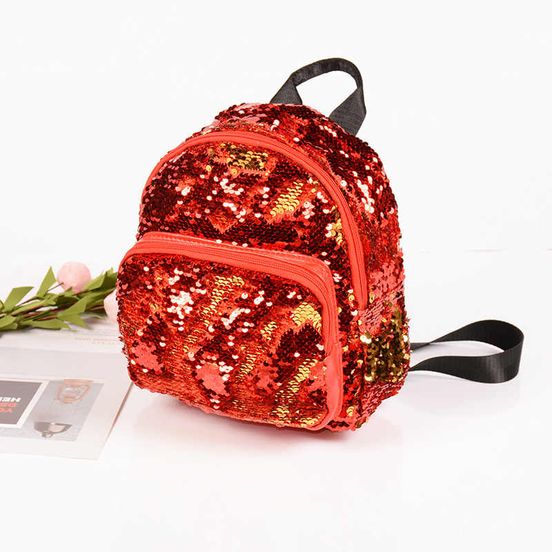 ... Women Small Backpack Leather Travel Backpacks for teenager girls School  Book Bags Back Pack Children Sequin ... 09ee4070998f