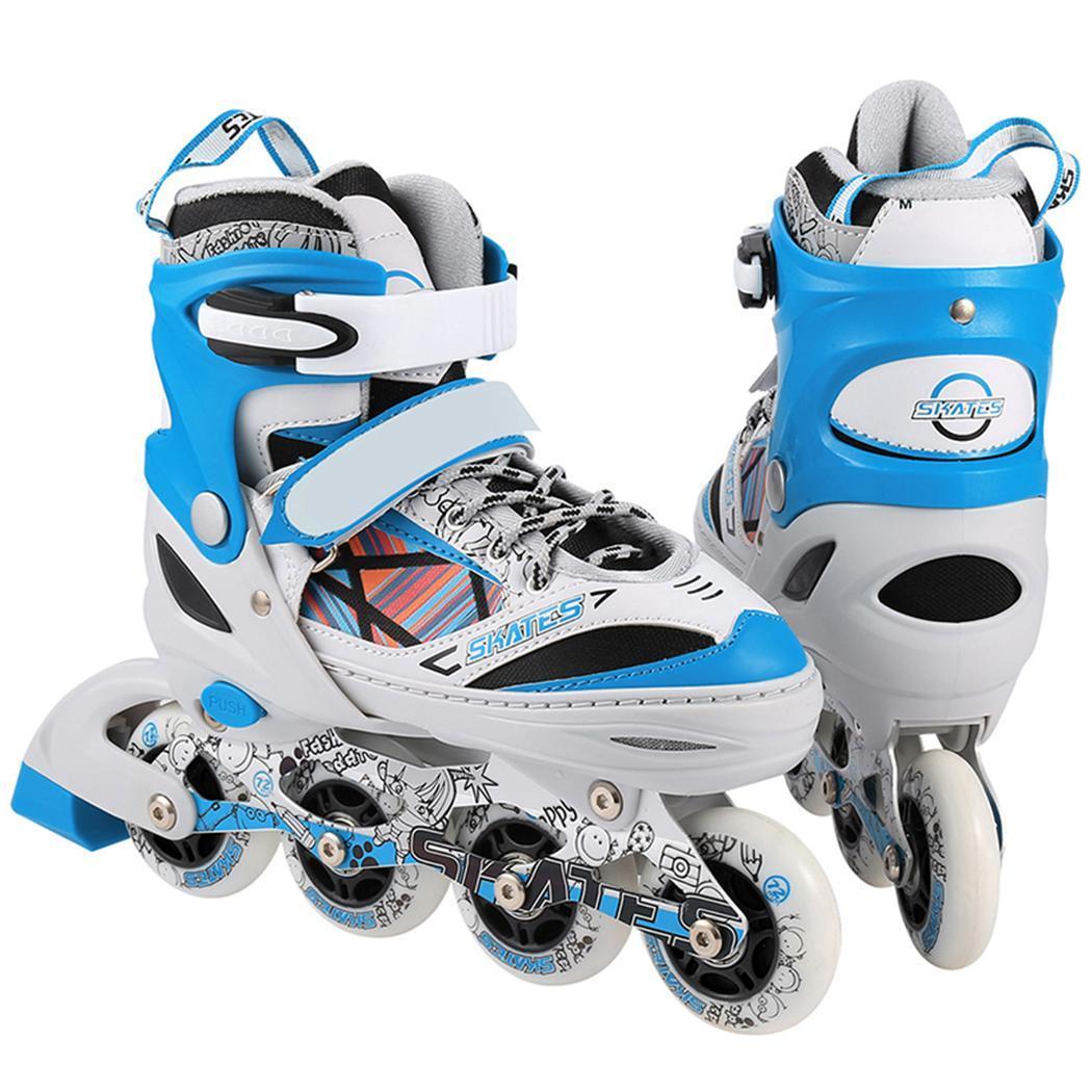 Nouveau unisexe patins à roulettes en alliage d'aluminium et roue en polyuréthane intérieur extérieur rouleau paire d'enfants traceur réglable patin à roues alignées