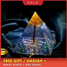 AURA REIKI Orgonite Tree Of Life Natural Mineral Crystal Change Fortune Pyramid Reiki Stone Resin Decorative Craft Jewelry цена и фото
