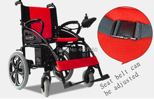 High quality magnesium alloy double motor foldable lightweight electric wheelchair