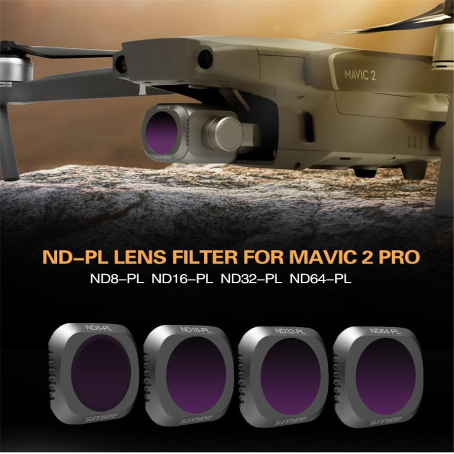 4pcsset DJI Mavic 2 Pro Lens Filter Mavic Camera Lens Filter Kit ND8 PL ND16 PL