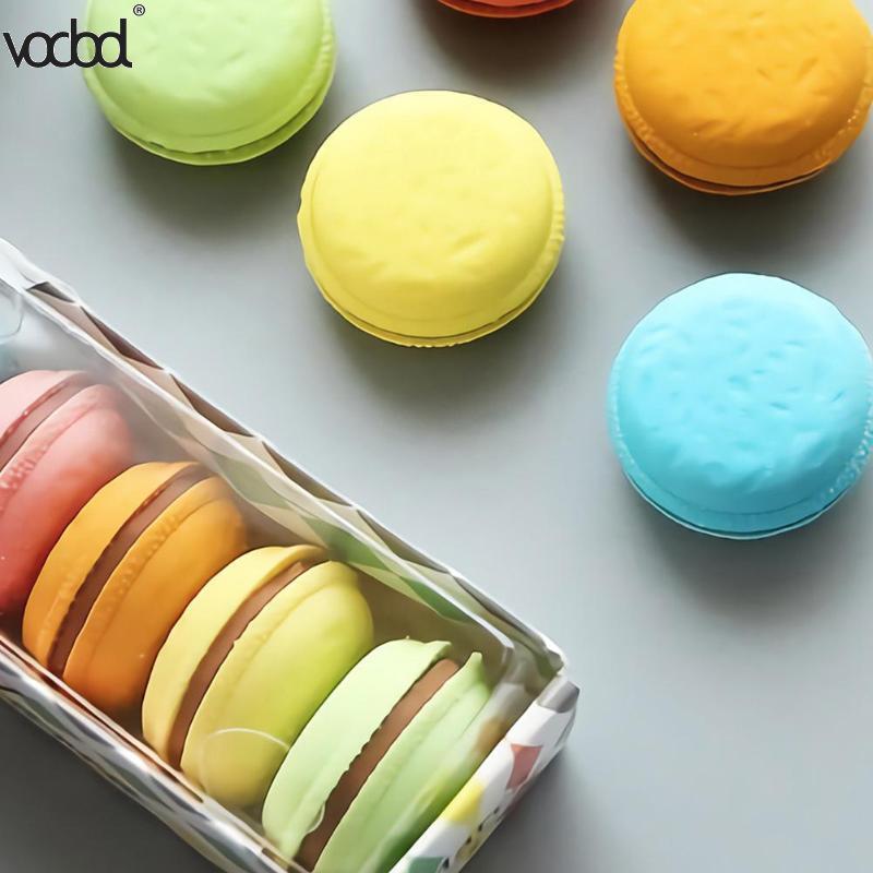 5pcs/Lot Novelty Macaron Rubber Eraser Creative Kawaii Stationery School Supplies Papelaria Gift For Kids