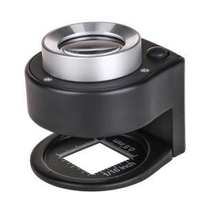 1Pc 6 LED 30X Optical Glass Le