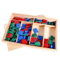 Kids baby Montessori Materials Educational Wooden Math Counting Early Learning Toy