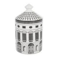 الرجعية Neuschwanstein قلعة منزل ديكور شمعة حامل لوحة الإبداعية الأبيض الأسود خطوط هندسية ديكور المنزل