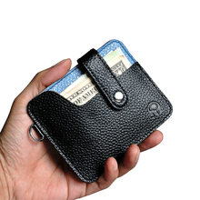 Men Wallets Leather Slim RFID Blocking Genuine Leather Multi Slots Credit ID Card Holders Men's Coin Purse Hasp Card Case Male 2018 new fashion unisex credit card holders genuine leather multi pvc card slots metal hasp business card id holders cow leather