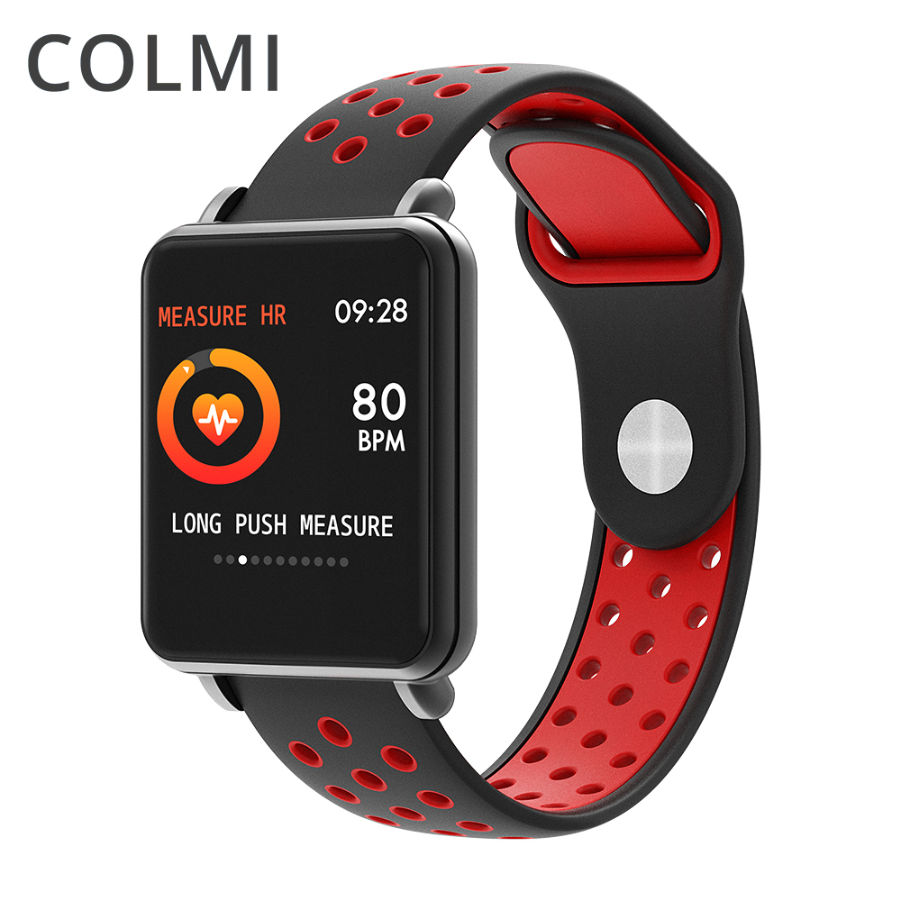 COLMI Land 1 Full touch screen IPS Smart watch IP68 Tempered glass Clock Fitness tracker Smartwatch For iphone Android Phone