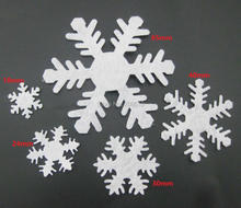 PANVEV Multi-sizes white felt snowflake Applique 200pcs/lot party decorative craft christmas accessories