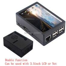 Raspberry pi estuche de pantalla LCD de 3,5 pulgadas, doble función para Raspberry pi 3 Modelo b +/4B/zero no con raspberry pi