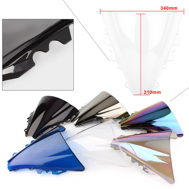 YZF R6 2006 Double Bubble Windshield Windscreen For Yamaha YZF-R6 600 2006 2007 06 07 ABS Plastic