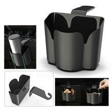 2-в-1 крюк кронштейн Черный Автомобильный крючок на спинку сиденья мусорное хранение мусорный ящик для хранения Организатор Ящик Контейнер для хранения