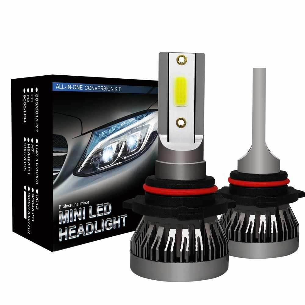 CROSSTIGER Car headlight Mini Lamp H7 H4 LED Bulbs H1 LED H8 H11 Headlamps Kit 9005 HB3 9006 HB4 6000k Fog light 12V LED Lamp36W