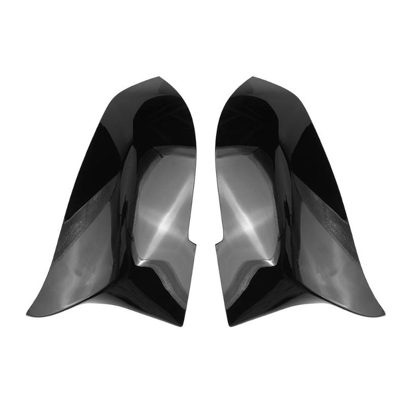 1 Pair Door Wing Mirror Cover Gloss Black Caps for BMW F30 F31 F32 F33 F36